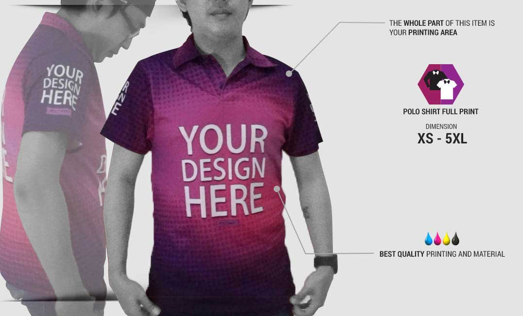 Fullprint Polo Shirts  specification